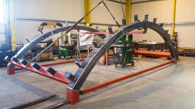 Stahl- & Metallbau Bernd Halfpap GmbH | Referenz | Unterkonstruktion Überdachung Novum Membra